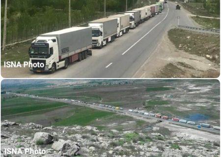 صف طولانی ۵۰۰ کامیون در مرز بازرگان/ترکیه همکاری نمیکند