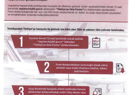 مسافران ترکیه از ۲۵ اسفند، «فرم ورود به ترکیه» پر کنند