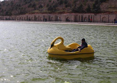 قایق سواری به امکانات تفریحی تفرجگاه عینالی افزوده شد