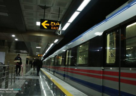 کاهش ساعت کار مترو/ ادامه فعالیت با ۵۰ درصد ظرفیت