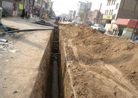 اتمام اولویت اول اجرای شبکه فاضلاب شهر اسکو