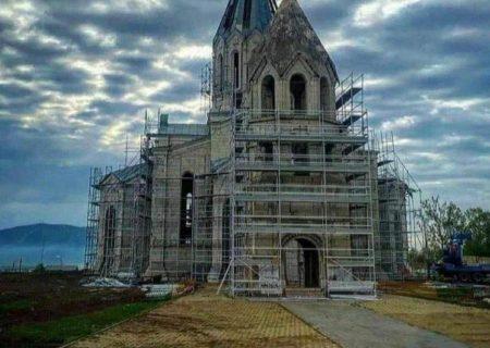 آغاز عملیات مرمت کلیسای قازانچی در شهر شوشا