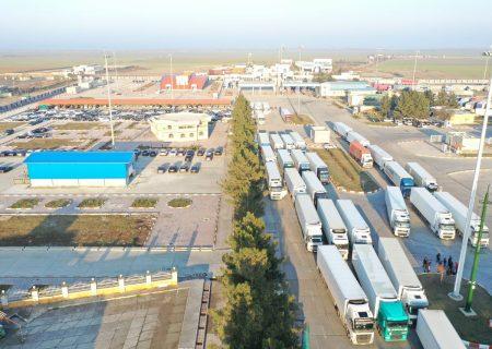 ۱۳۲ هزار تن کالای ایرانی از پایانه مرزی بیلهسوار مغان صادر شد