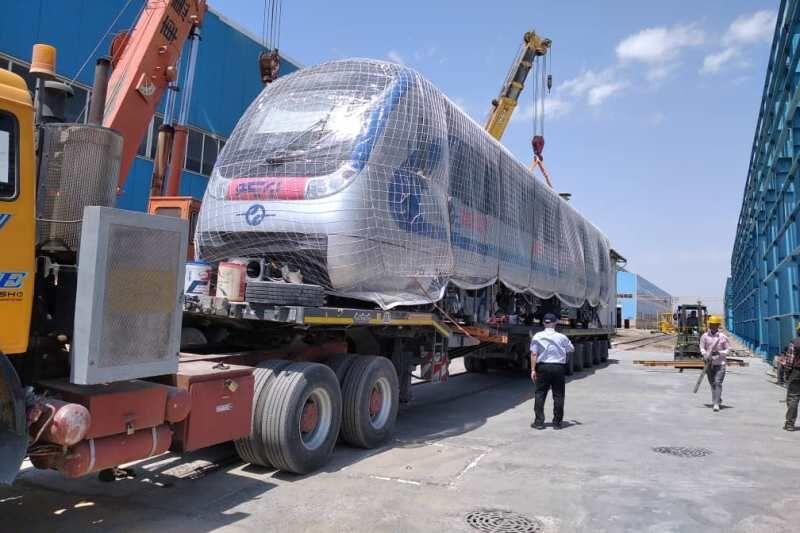 بارگیری نخستین رام قطار ساخت داخل به سمت تبریز