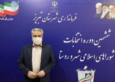 فرماندار تبریز: کاندیداها و مردم نگران تجمیع آراء دستی و الکترونیکی نباشند