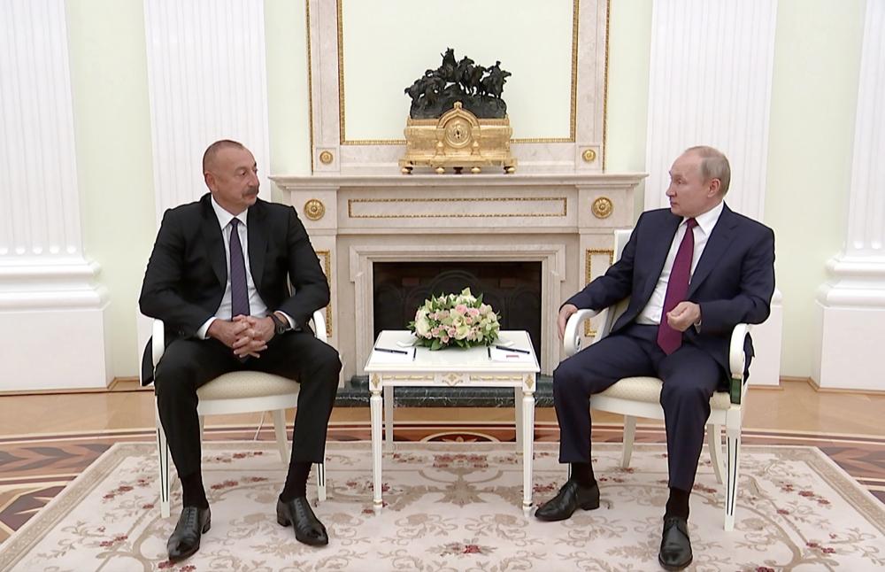 رئیس جمهور روسیه از تلاش های رئیس جمهور آذربایجان برای حل اوضاع منطقه تشکر کرد