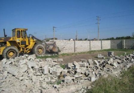 تخریب ۵۰ مورد ساخت و ساز غیر مجاز در باسمنج