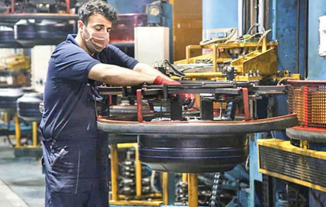 رشد ۳ درصدی تولید تایر در بهار ۱۴۰۰