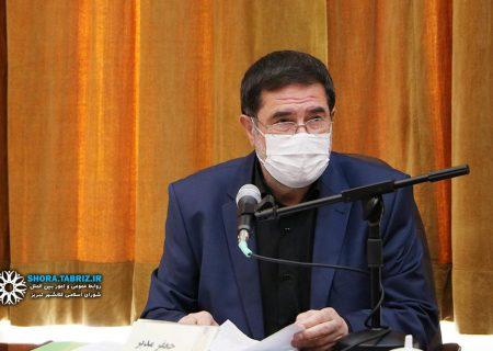 جعفر مدبر، برنامه خود را جهت تصدی گری شهرداری تبریز ارائه کرد