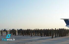 بازگشت ۱۲۰ نیروی نظامی صلحبان آذربایجانی که بهمراه نیروهای صلحبان ترکیه مسئولیت حفاظت از فرودگاه بین المللی کابل را به عهده داشتند به جمهوری آذربایجان.