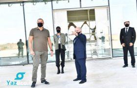بازدید الهام علی اف رئیس جمهور آذربایجان از ترمینال فرودگاه بین المللی فضولی