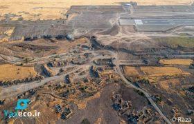 عکس های رضا دقتی از عملیات تکمیل فرودگاه بین المللی فضولی در سرزمین های آزاد شده آذربایجان