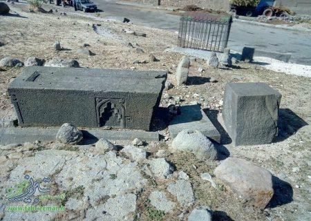 تصاویری از گورستان تاریخی و قدیمی روستای النجق مرند