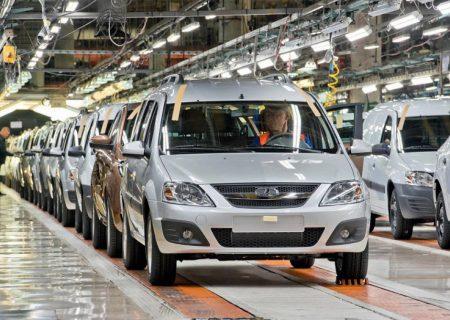 فروش خودروهای لادا در روسیه کاهش یافت