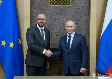 رئیس جمهور روسیه و رئیس شورای اتحادیه اروپا درباره اجرای توافق نامه های سه جانبه در مورد قره باغ صحبت کردند