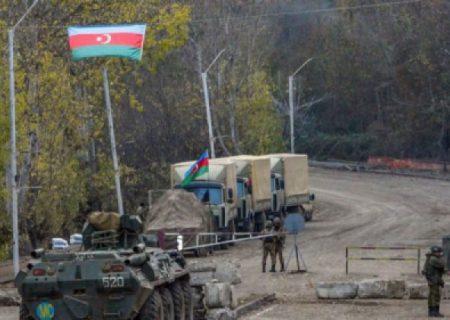 روس ها در شوک: نظامیان آذربایجان مانع ورود خودروی صلح بانان روسی به شهر شوشا شدند
