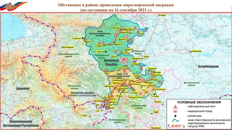 انتشار نقشه تحریک آمیز دیگری از روسیه علیه آذربایجان