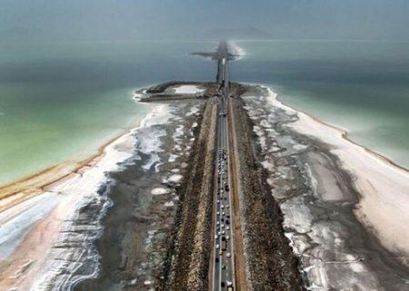 وسعت دریاچه ارومیه بیش از ۱۵۰۰ کیلومترمربع کاهش یافت