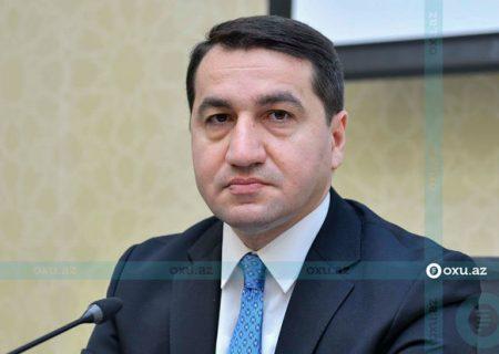 حکمت حاجی اف با سفیر ایران در آذربایجان دیدار کرد