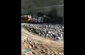 ویدئویی از تداوم عملیات احداث تونل ۵.۱ کیلومتری در جاده احمدبیلی-فضولی-شوشا
