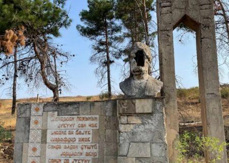 تخریب یادمان نظامی گنجی توسط اشغالگران قره باغ