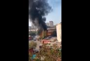 وقوع آتش سوزی در مرکز خرید مترو سیتی در منطقه نریمانوف باکو
