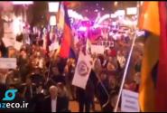 راهپیمایی در خیابانهای ایروان با شعارهایی علیه پوتین و روسیه