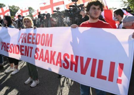 بازداشت شهروندان گرجی در راهپیمایی حمایت از ساکاشویلی